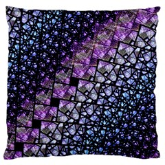 Dusk Blue And Purple Fractal Large Cushion Case (single Sided)  by KirstenStar