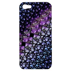 Dusk Blue And Purple Fractal Apple Iphone 5 Hardshell Case by KirstenStar