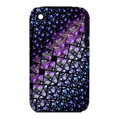 Dusk Blue And Purple Fractal Apple Iphone 3g/3gs Hardshell Case (pc+silicone) by KirstenStar