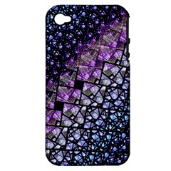 Dusk Blue And Purple Fractal Apple Iphone 4/4s Hardshell Case (pc+silicone) by KirstenStar