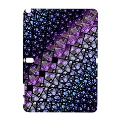 Dusk Blue And Purple Fractal Samsung Galaxy Note 10 1 (p600) Hardshell Case by KirstenStar