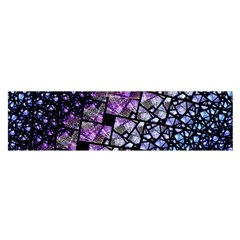 Dusk Blue And Purple Fractal Satin Scarf (oblong) by KirstenStar