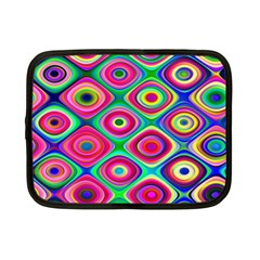 Psychedelic Checker Board Netbook Sleeve (small) by KirstenStar