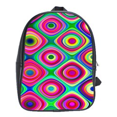 Psychedelic Checker Board School Bag (large) by KirstenStar