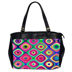 Psychedelic Checker Board Oversize Office Handbag (two Sides) by KirstenStar