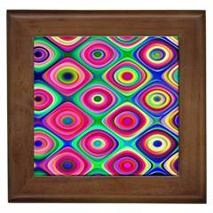 Psychedelic Checker Board Framed Ceramic Tile by KirstenStar