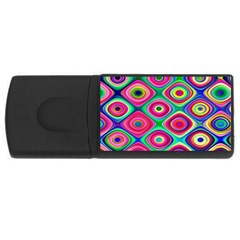 Psychedelic Checker Board 4gb Usb Flash Drive (rectangle) by KirstenStar