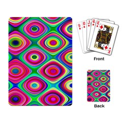 Psychedelic Checker Board Playing Cards Single Design by KirstenStar