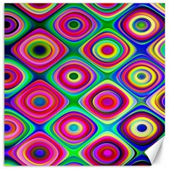 Psychedelic Checker Board Canvas 12  X 12  (unframed) by KirstenStar