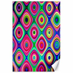 Psychedelic Checker Board Canvas 20  X 30  (unframed) by KirstenStar