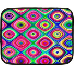 Psychedelic Checker Board Mini Fleece Blanket (two Sided) by KirstenStar