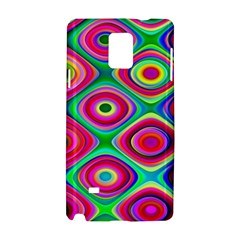 Psychedelic Checker Board Samsung Galaxy Note 4 Hardshell Case by KirstenStar