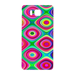 Psychedelic Checker Board Samsung Galaxy Alpha Hardshell Back Case by KirstenStar