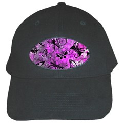 Butterfly Graffiti Black Baseball Cap
