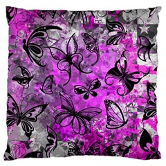 Butterfly Graffiti Large Flano Cushion Case (two Sides)