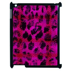 Pink Leopard Apple Ipad 2 Case (black) by ArtistRoseanneJones