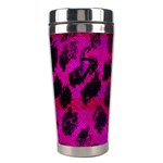Pink Leopard Stainless Steel Travel Tumbler Center