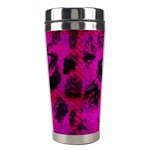 Pink Leopard Stainless Steel Travel Tumbler Right