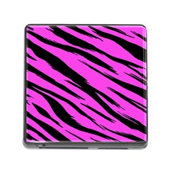 Pink Tiger Memory Card Reader With Storage (square) by ArtistRoseanneJones