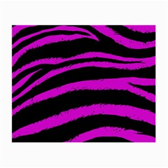 Pink Zebra Glasses Cloth (small, Two Sided) by ArtistRoseanneJones