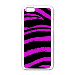 Pink Zebra Apple Iphone 6 White Enamel Case