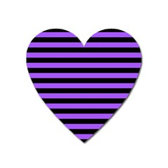 Purple Stripes Magnet (heart) by ArtistRoseanneJones