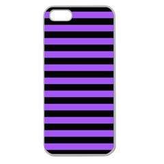 Purple Stripes Apple Seamless Iphone 5 Case (clear)