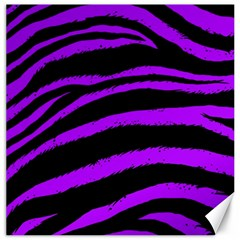 Purple Zebra Canvas 12  X 12  (unframed)
