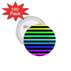 Rainbow Stripes 1 75  Button (100 Pack) by ArtistRoseanneJones