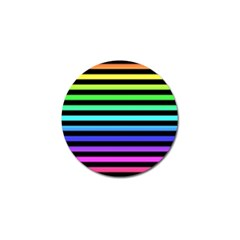 Rainbow Stripes Golf Ball Marker by ArtistRoseanneJones