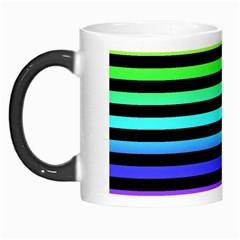 Rainbow Stripes Morph Mug by ArtistRoseanneJones