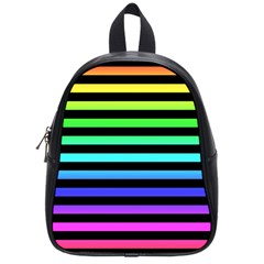 Rainbow Stripes School Bag (small) by ArtistRoseanneJones