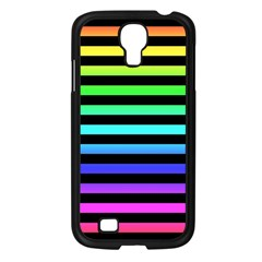 Rainbow Stripes Samsung Galaxy S4 I9500/ I9505 Case (black) by ArtistRoseanneJones