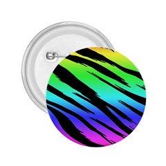 Rainbow Tiger 2 25  Button by ArtistRoseanneJones