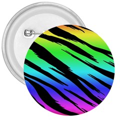 Rainbow Tiger 3  Button by ArtistRoseanneJones
