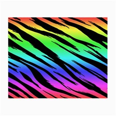 Rainbow Tiger Glasses Cloth (small) by ArtistRoseanneJones