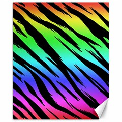 Rainbow Tiger Canvas 16  X 20  (unframed) by ArtistRoseanneJones