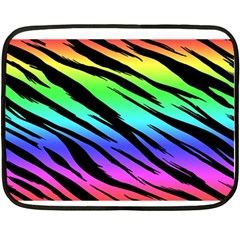 Rainbow Tiger Mini Fleece Blanket (two Sided) by ArtistRoseanneJones