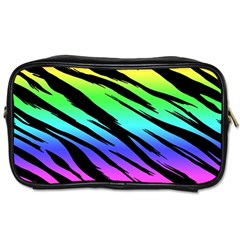 Rainbow Tiger Travel Toiletry Bag (one Side) by ArtistRoseanneJones