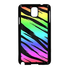 Rainbow Tiger Samsung Galaxy Note 3 Neo Hardshell Case (black) by ArtistRoseanneJones