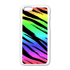 Rainbow Tiger Apple Iphone 6 White Enamel Case by ArtistRoseanneJones