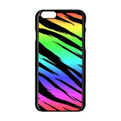 Rainbow Tiger Apple Iphone 6 Black Enamel Case by ArtistRoseanneJones
