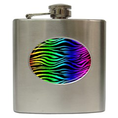 Rainbow Zebra Hip Flask