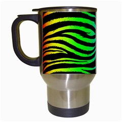 Rainbow Zebra Travel Mug (white)