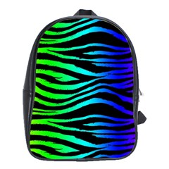 Rainbow Zebra School Bag (large) by ArtistRoseanneJones