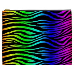Rainbow Zebra Cosmetic Bag (xxxl)