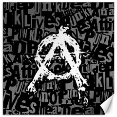 Anarchy Canvas 12  X 12  (unframed) by ArtistRoseanneJones