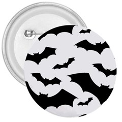 Deathrock Bats 3  Button by ArtistRoseanneJones