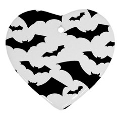 Deathrock Bats Heart Ornament