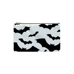 Deathrock Bats Cosmetic Bag (small) by ArtistRoseanneJones